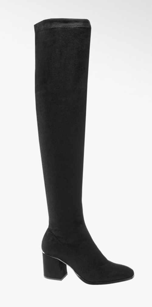 Černé vysoké kozačky nad kolena Vero Moda