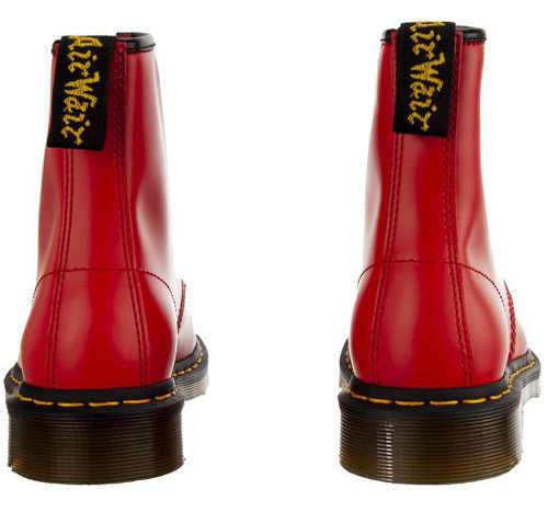 Červená dámská zimní kotníková obuv