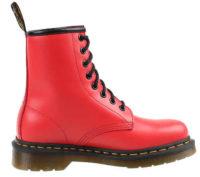 Červené dámské zimní boty Dr. Martens 1460