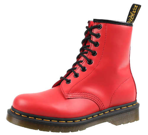 Červené městské dámské zimní boty