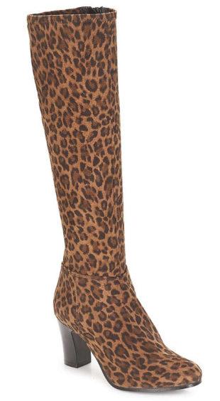 Dámské kozačky André vzor leopardí kůže
