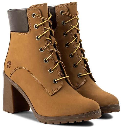 Dámské zimní boty na vyšším podpatku