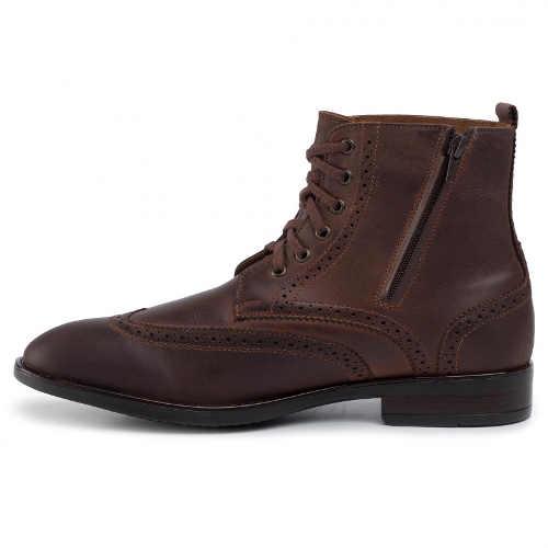 kožené kotníkové pánské boty