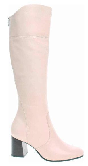 Světle růžové dámské kozačky Tamaris 1-25515-25 Ivory