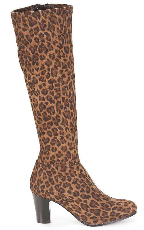 Trendy dámské kozačky leopard