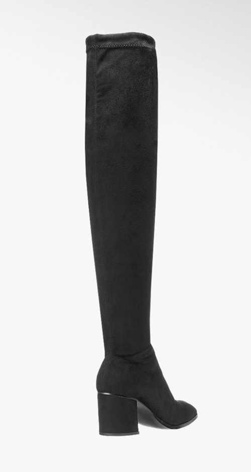 Vysoké kozačky nad kolena s vysokým podpatkem