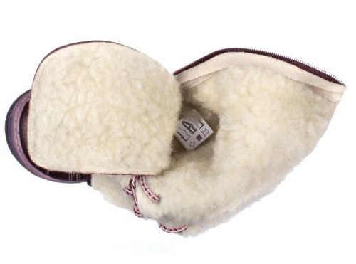 Vyšší fialová dívčí zimní obuv s teplou podšívkou