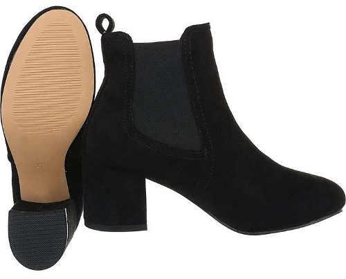Elegantní černá dámská podzimní kotníková obuv