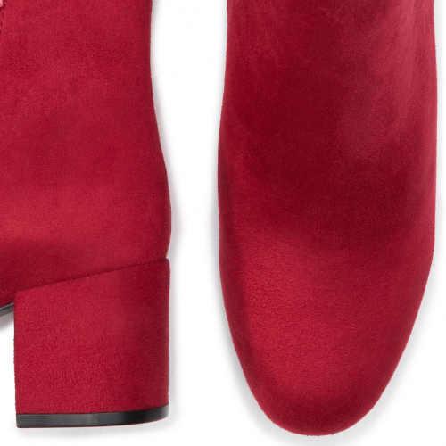 moderní dámské nízké červené kozačky