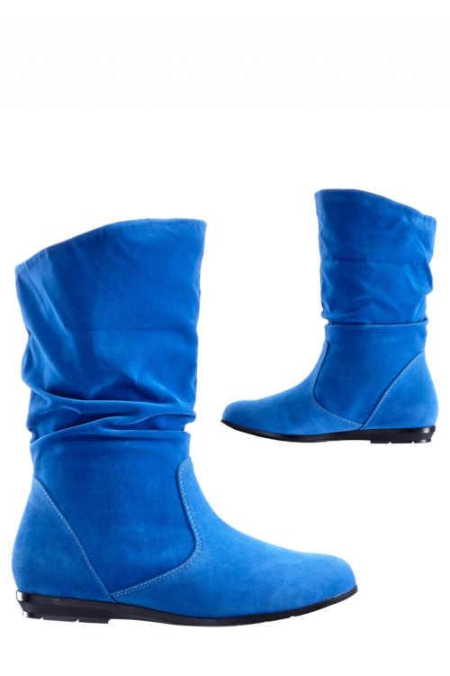 modré kozačky na nazouvání