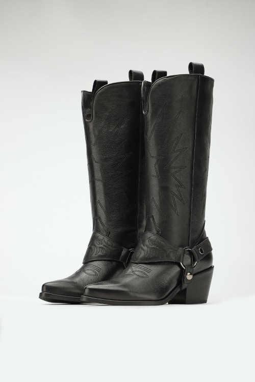dámské vysoké kožené boty