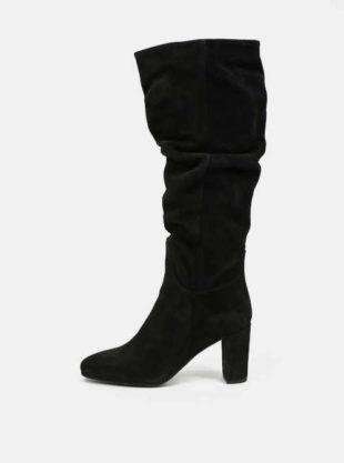 Černé dámské semišové kozačky Vero Moda