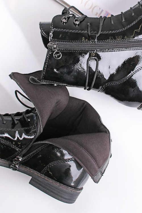 boty na šněrování a praktický zip